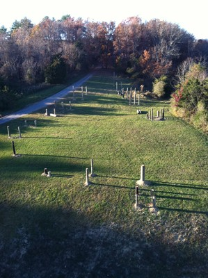 Obstacle course under construction winter 2012-13