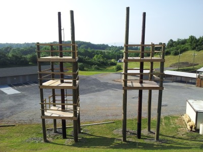 Completed Obstacle Course Towers