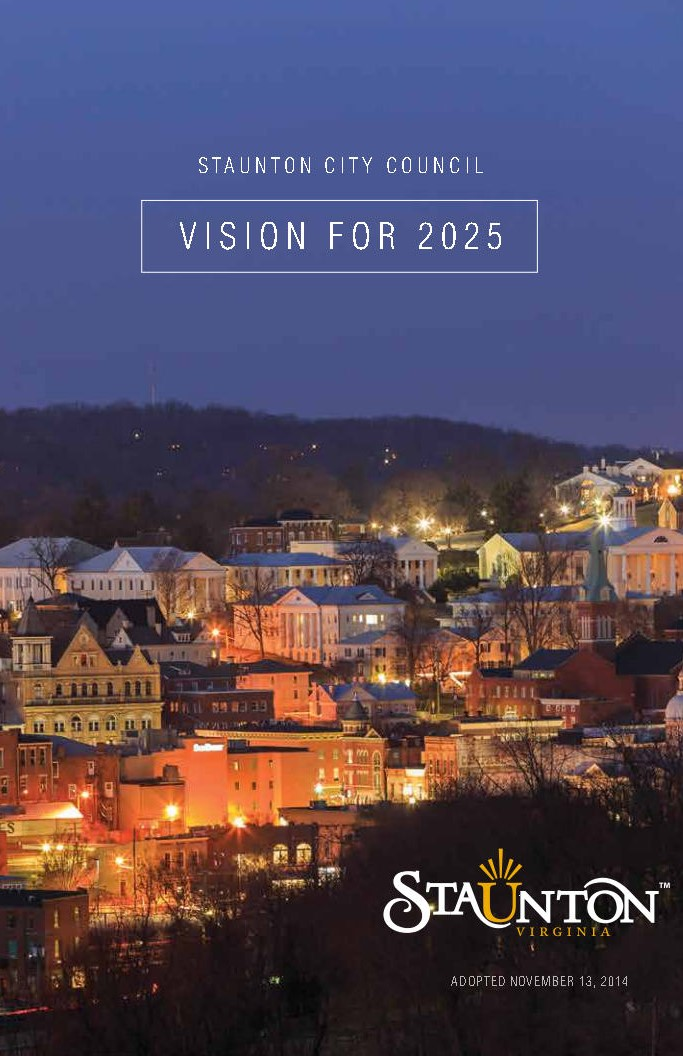 Staunton City Council Vision 2025 cover
