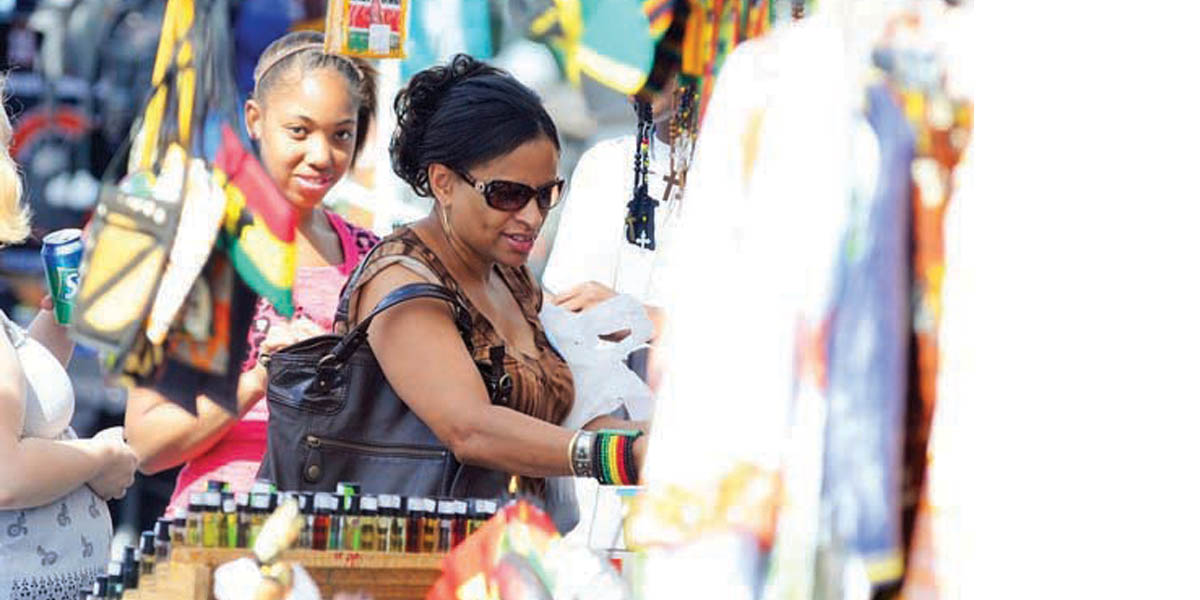 shopping at the African American Heritage Festival