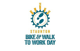 Bike and walk to work day logo
