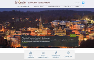 snapshot of economic development's home page