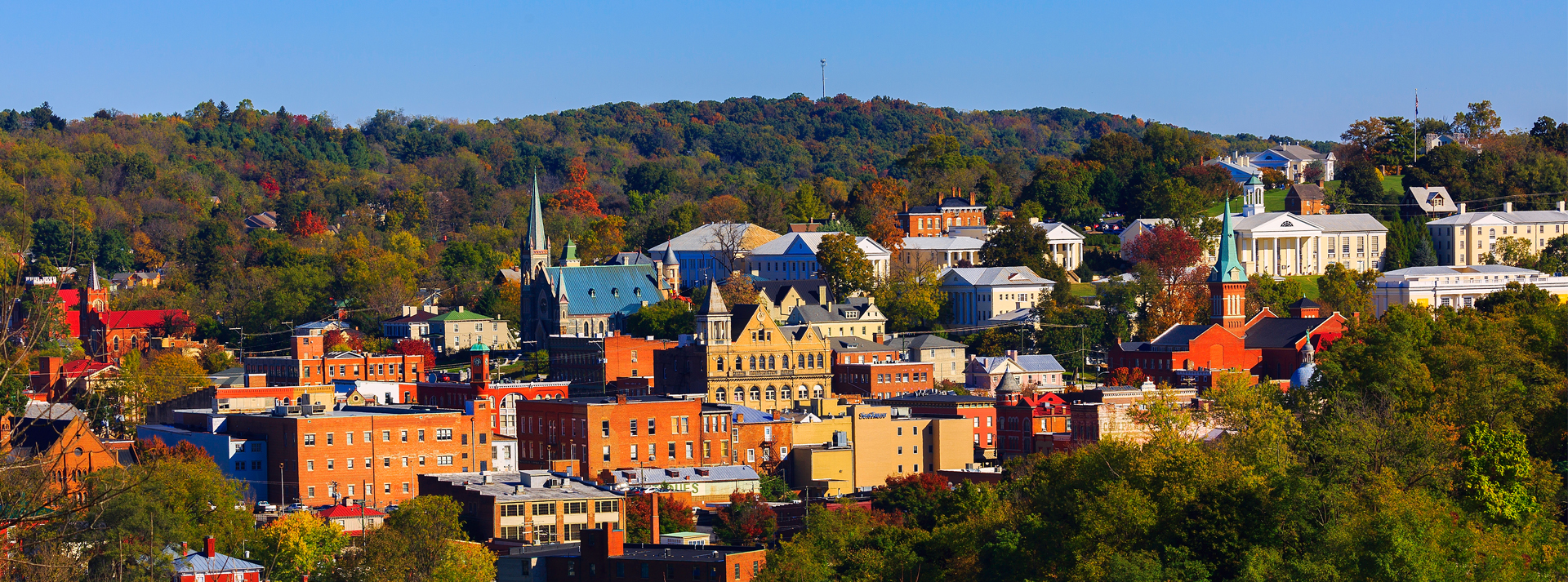 fall cityscape in staunton va