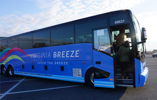 a view of the Virginia breeze bus