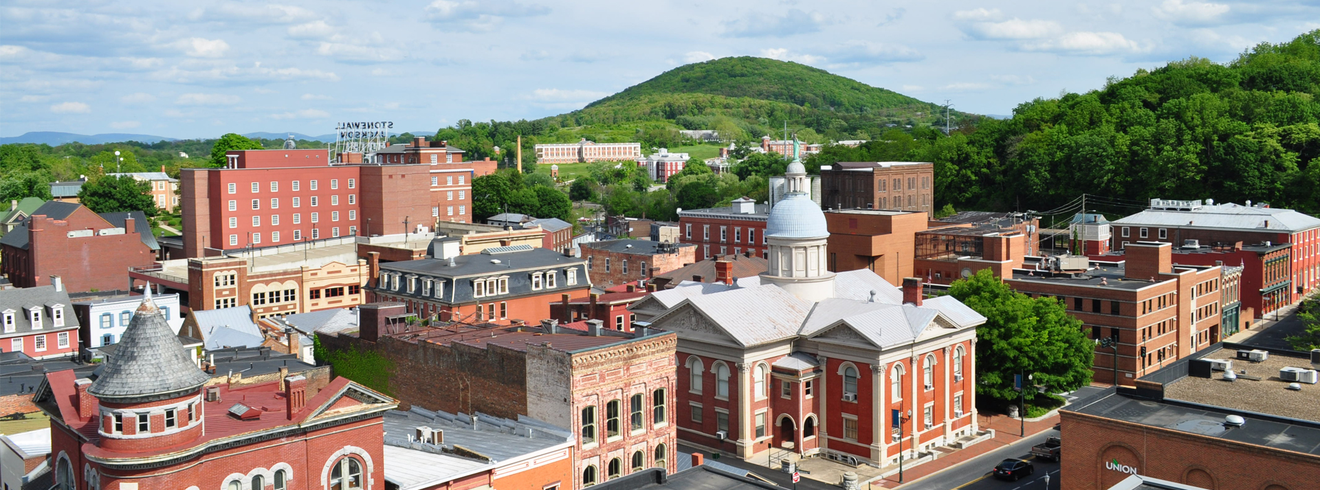 downtown staunton rooftops