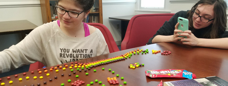 Read the Rainbow Book Club activity with Skittles