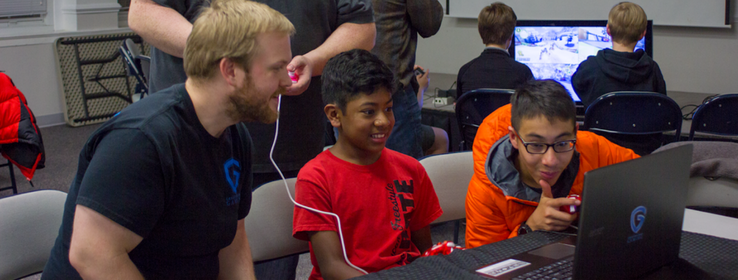Teen Gaming Club - Students and representatives from Greater Good Gaming