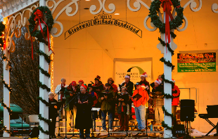 caroling in Gypsy Hill park