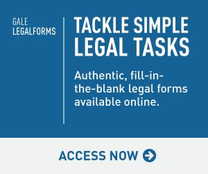 Gale Legal Forms. Tackle simple legal tasks. Authentic, fill-in-the-blank legal forms available online. Access now.