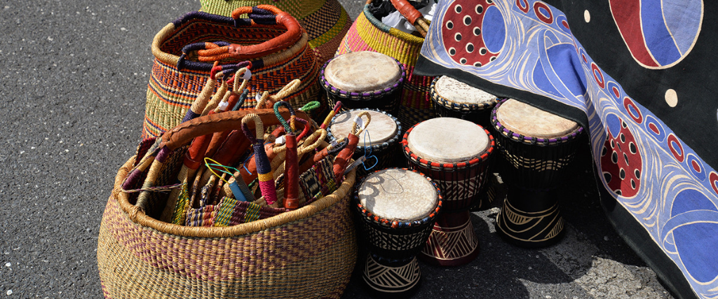 baskets and african drums at the african american heritage festival