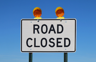 road closed sign