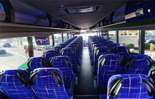 a view of the interior of the Virginia breeze bus
